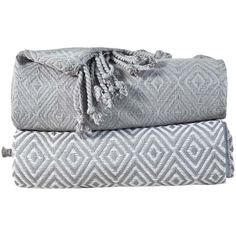 Affinity Home Dove Gray Diamond Weave Throw (37 CAD) ❤ liked on Polyvore featuring home, bed & bath, bedding, blankets, cotton bedding, woven throw blanket, woven blankets, woven throws and cotton throws