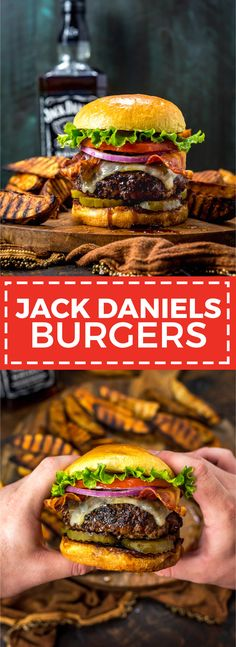 Daniels Burgers (T. Friday s Copycat Jack Daniels Burgers.These juicy, glazed cheeseburgers taste just like the ones at TGI Friday s. The sweet, sticky glaze (and a few tips) will take your typical backyard burgers to the next level. Burger Recipes, Copycat Recipes, Grilling Recipes, Beef Recipes, Appetizer Recipes, Cooking Recipes, Appetizer Dessert, Cheese Burger, Backyard Burger
