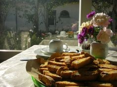 """The delicious """"cantuccini"""" in a sunny winter morning at Villa Roncuzzi, Ravenna, Italy"""