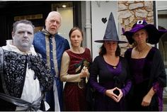 East Devon's Wyrd Sisters take to the streets of Exeter