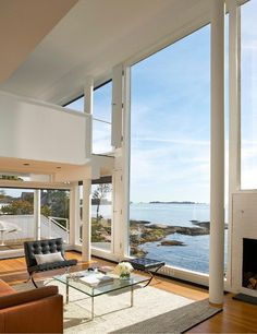 Image 26 of 26 from gallery of AD Classics: Smith House / Richard Meier & Partners. Courtesy of Richard Meier & Partners Architects Chinese Architecture, Modern Architecture House, Futuristic Architecture, Facade Architecture, Residential Architecture, Modern Houses, Lofts, Richard Meier, House Viewing