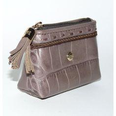 lancel sac cuir crocodile portefeuille et porte-monnaie | TendanceShopping.com found on Polyvore