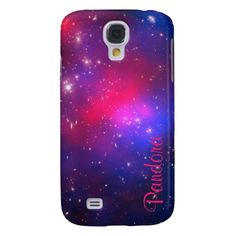 Personalized Pandora's Cluster Samsung Galaxy S4 Case at Zazzle #pink #blue #spaceimage #personalized