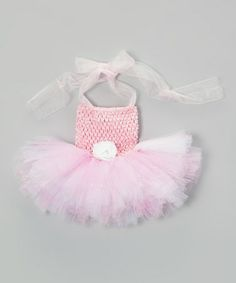 Take a look at this Pink Rhinestone Tutu Dress - Infant by Bride and Babies on #zulily today!