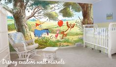 Would be so amazing to do a disney mural in the nursery or kids room!!