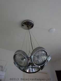 VW Beetle Headlight Chandelier