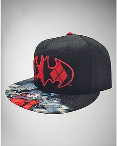 efb80464c7be5 Black Harley Quinn Sublimated Snapback Hat - Spencer s