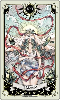 Tarot card 21- the world by rann-rann.deviantart.com --> http://All-About-Tarot.com <--