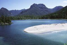 Brooks Lagoon, Brooks Peninsula Provincial Park, Strathcona, Vancouver island, BC.