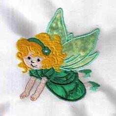 Free Embroidery Design: Applique Fairy