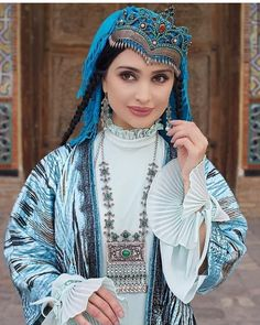 Classy Shorts Outfits, Uzbekistan Girl, Exotic Beauties, Spring Makeup, Beautiful Costumes, Girl Hijab, Ancient Jewelry, Folk Costume, Muslim Fashion