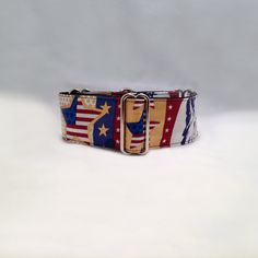 2 inch Martingale Collar Colorful Patriotic Fourth of July Martingale Collar by fabcollarhounds, $18.99