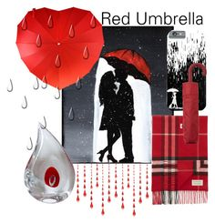 """""""Red Umbrella"""" by mandimwpink ❤ liked on Polyvore featuring art, red and umbrella"""