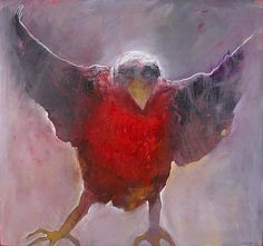Mel McCuddin, Avian Eclipse oil on canvas