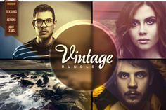 Vintage Bundle ~~ I present my best, most sophisticated bundle to date, with dozens of goodies to give professional photographic effects to the masses. Actions, Textures, Light Leaks, all hand-crafted (or photographed) by me to enhance your photography.     The vintage look i…