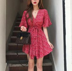 korean fashion Learn About These Awesome summer korean fashion 9888 Girly Outfits, Cute Casual Outfits, Pretty Outfits, Pretty Dresses, Beautiful Dresses, Casual Dresses, Fashion Dresses, Vintage Outfits, Summer Dresses