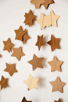 Paper garland star garland wedding garland by PaperNotebook, zł30.00