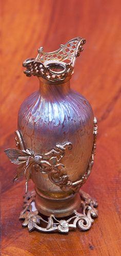"""Skleněná váza sklárny Loetz """"pappilon"""" z roku 1900 - 22"""