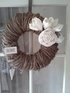 A new front door wreath ! A new front door wreath ! Wreath on the front door Wreaths - New Years Berry Wreaths - Berry Wreath - Spring Wreaths - Neutral Colored Wrea. Wreaths For Front Door, Door Wreaths, Straw Wreath, Bronze Patina, Berry Wreath, How To Make Wreaths, Burlap Wreath, French Antiques, Floral Wreath
