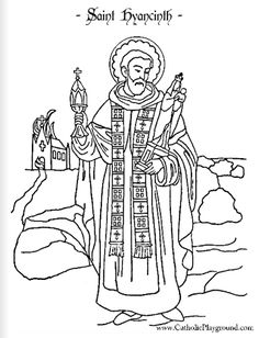 saint hyacinth coloring page