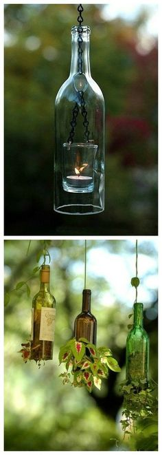 the use of the used beer bottle