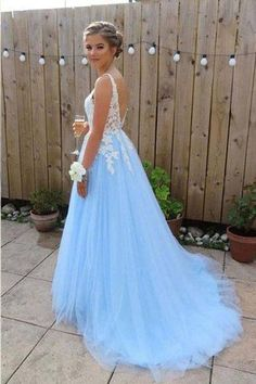 Prom Dresses Long Prom Dresses Sleeveless Prom Dresses Sexy Tulle with Appliques Prom Dresses Elegant Prom Dresses Evening Dresses Party Dresses Prom Dresses For Teens, Cute Prom Dresses, Elegant Prom Dresses, Backless Prom Dresses, Tulle Prom Dress, Dance Dresses, Pretty Dresses, Formal Dresses, Tulle Lace