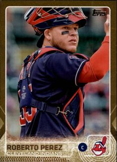 2015 Topps Update Series Gold #US36 Roberto Perez #308/2015 mint from pack   #ClevelandIndians