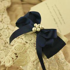 Adornos para el pelo hechos a mano Magia modelos de viento cinta azul arco de la cinta japonesa y coreana de la marina de perlas horquilla horquilla de cabeza adornos