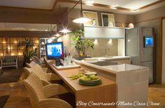 Construindo Minha Casa Clean: 25 Cozinhas Integradas com as Salas! Veja como Decorar!