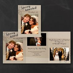 Merry Married - Photo Holiday Card      40% OFF     http://mediaplus.carlsoncraft.com/Holiday/Photo-Cards/3254-TWS32533-Merry-Married--Photo-Holiday-Card.pro