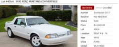 1993 Triple White 'vert – Dennis Collins Collection of Foxes