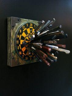 knife block/dart board by StarMeKitten
