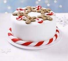 Image result for easy christmas cake decorating ideas