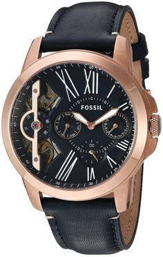 04440d499 Fossil Mens ME1162 Grant Twist ThreeHand Blue Leather Watch * Check this  awesome product by going