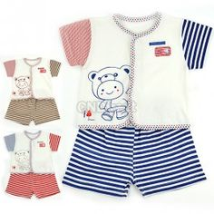 $5.70 New Infant Baby Sweet Clothes 3-12 Months Short Sleeve T-Shirt + Pants Set