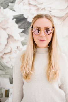 LC Lauren Conrad Round Mirrored Sunglasses | Available at Kohl's