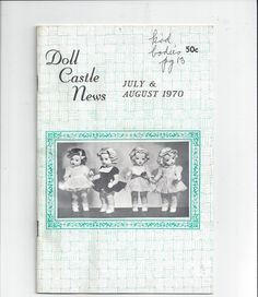 Hey, I found this really awesome Etsy listing at https://www.etsy.com/listing/205348814/july-august-1970-doll-castle-news-with