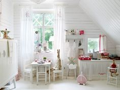 All About White: This white, light-filled playroom is also a bedroom, but it doesn't look cluttered because the clean white backdrop keeps things simple.  Source: Apartment Therapy
