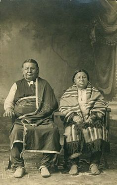 An unidentified couple of the Osage Nation. Circa 1880. Photographer not noted.