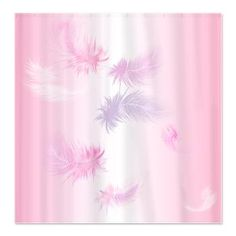 Soft Pink Feathers Shower Curtain