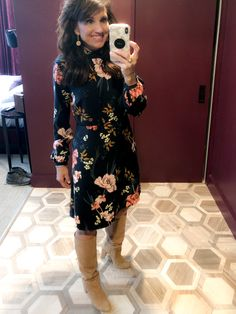 c09a884896 Floral Shift Dress from Amazon. Cyndi SpiveyChurch OutfitsFall ...