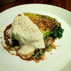 Roasted Cabbage, Truffled mayonnaise and mushroom teriyaki.