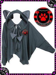 Cat Ear Cutsew Black. See more at: http://www.cdjapan.co.jp/apparel/maxicimam.html #harajuku