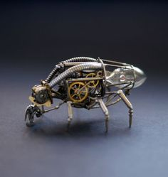 insects made from watch parts and discarded objects by justin gershenson-gates a mechanical mind