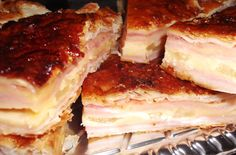 Torta de Jamón Queso y Ananá