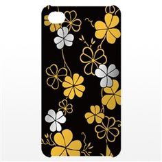 iPhone Cover with Japanese lacquer with gold and silver leafs. It also is available with red background color.