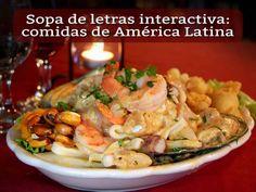 Sopa de letras interactiva: comidas de América Latina #sopadeletras