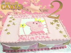 ⭐️ 🐷 🌟 Who doesn't love Peppa Pig. Especially if you're 2 💫 Make A Wish, How To Make, Sheet Cakes, Peppa Pig, Desserts, Tailgate Desserts, Deserts, Postres, Dessert