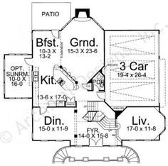 Regent House Plan - Colonial Floor - House Plan -  First Floor Plan