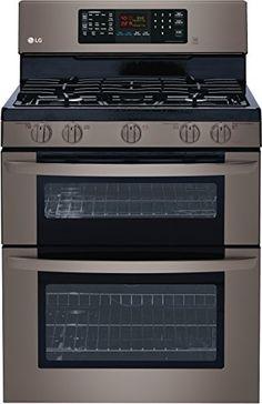 "Amazon.com: LG LDG3036BD 30"" Black Diamond Series Gas Range in Black Stainless Steel: Appliances"